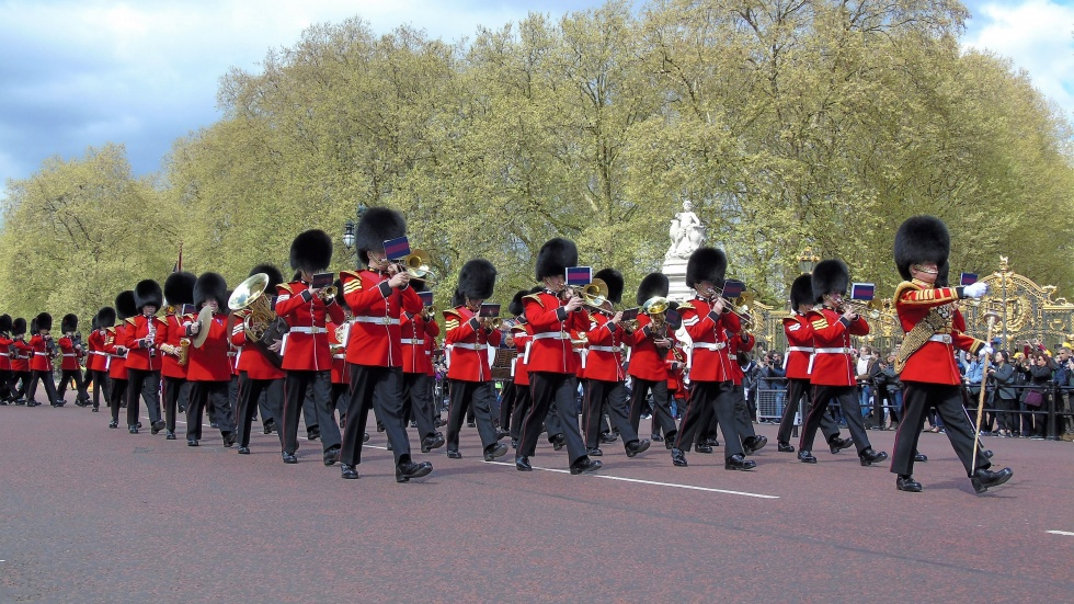 Grenadier Guards Band Marching Down the Mall