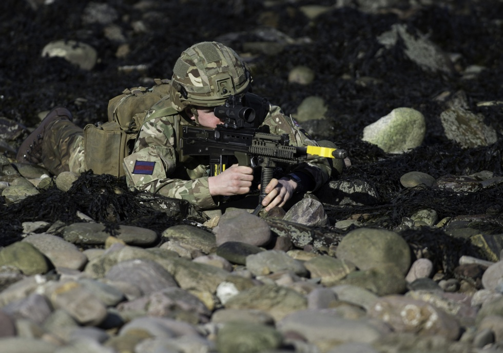Coldstream Guards on exercise in Devon