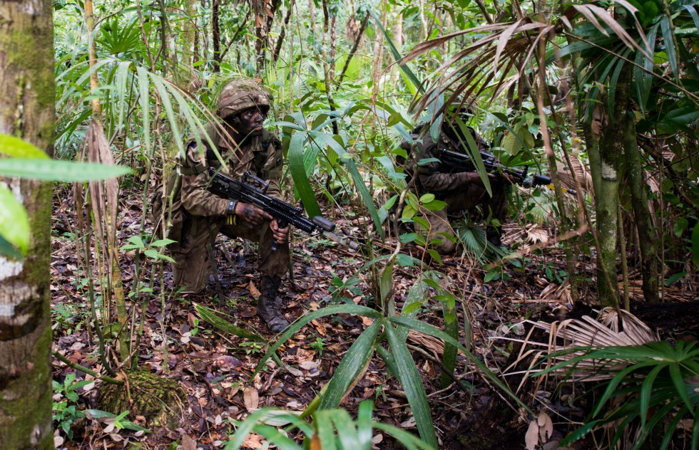 Irish Guards on exercise in Mayen